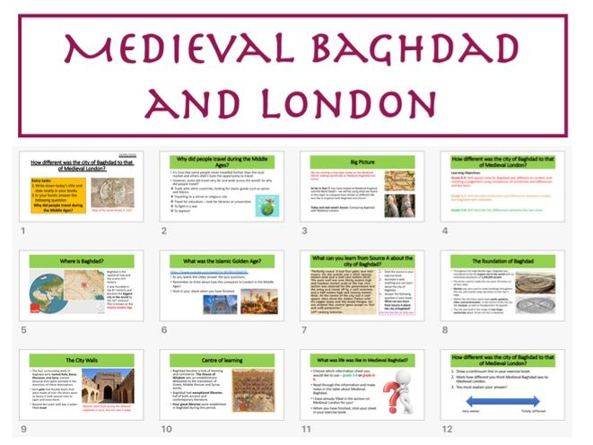 Medieval Baghdad and Medieval London