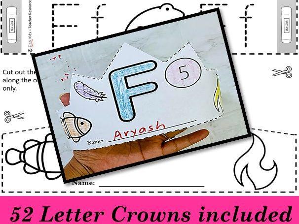 Alphabet Hats, Alphabet Crowns, Alphabet/Letter Craft - Beginning Sound