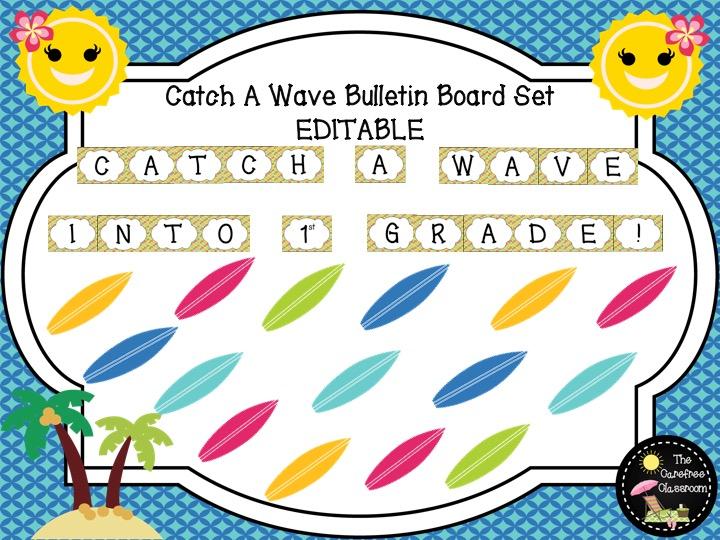 Bulletin Board Set: Catch A Wave Back To School Set