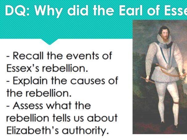 AQA GCSE History Elizabethan England c1568-1603 Essex's Rebellion