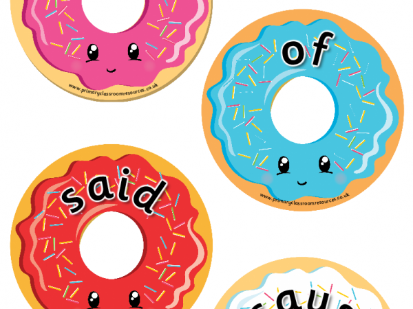 Year 1 Common Exception Words Donuts