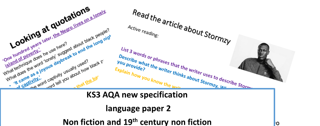 KS3 AQA language paper 2 READING non fiction & 19th century non fiction