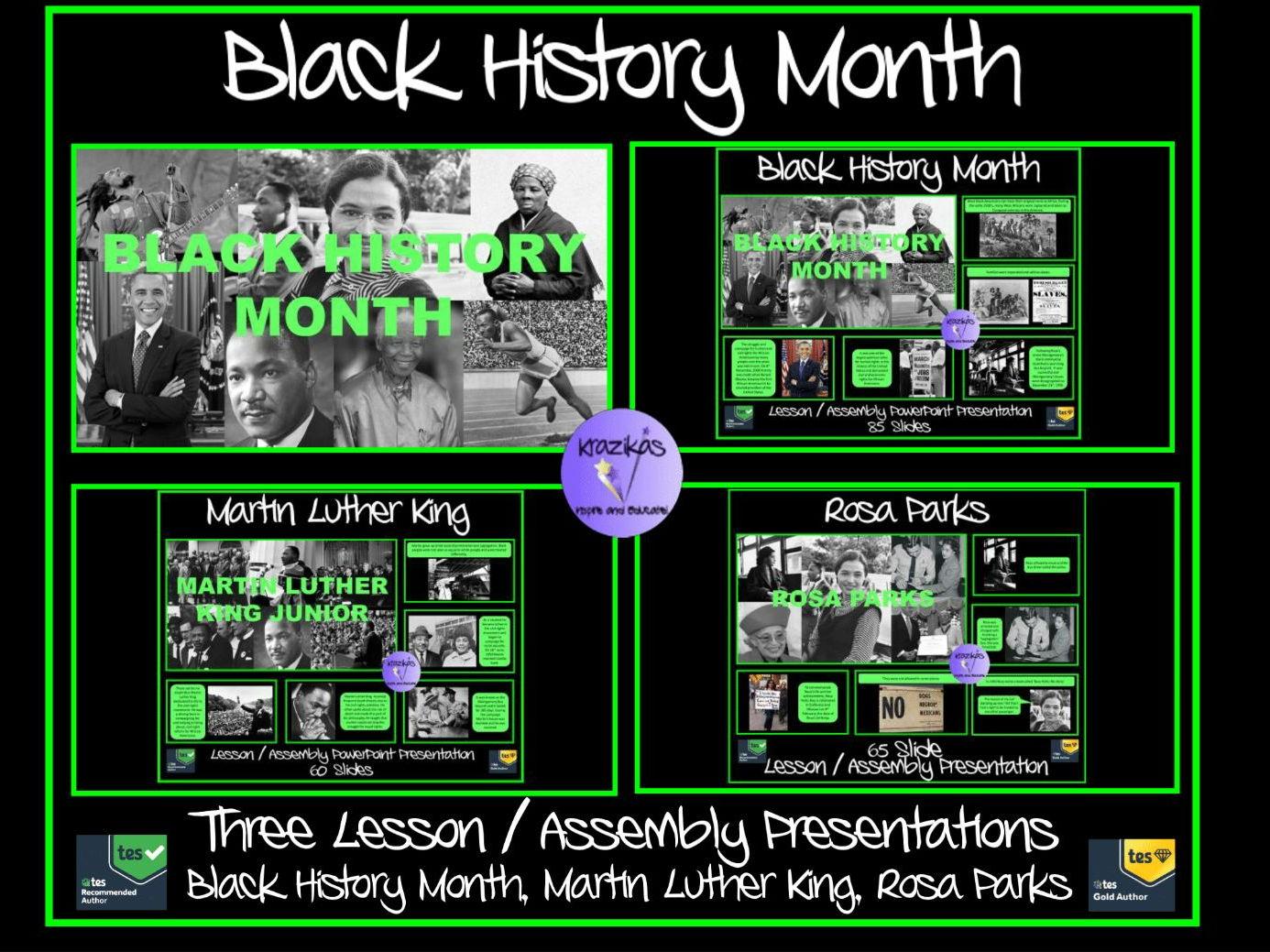 black history black history month presentation 85 slides by