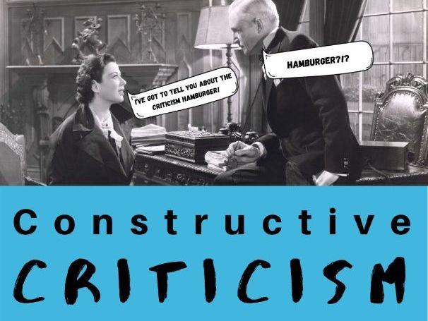 Constructive Criticism, No-Prep Lesson