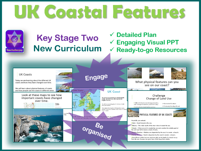 UK Coast Physical Features KS2 Geography Lesson