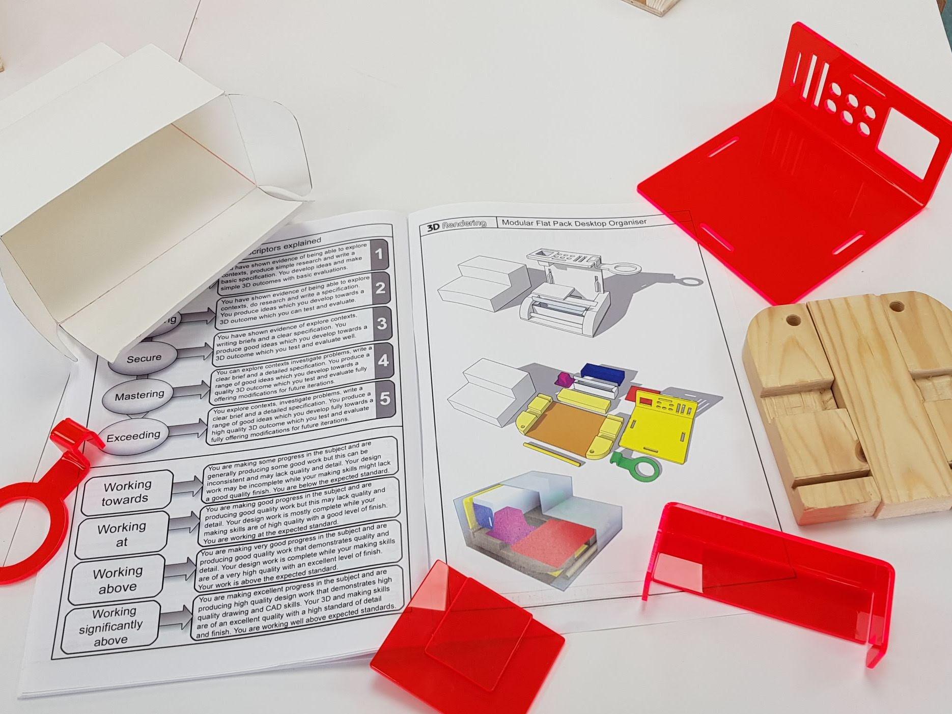 Desktop Organiser Booklet, files and Spreadsheet