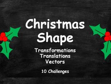 Christmas Shape. Transformations. Translations. Vectors. FULL SET