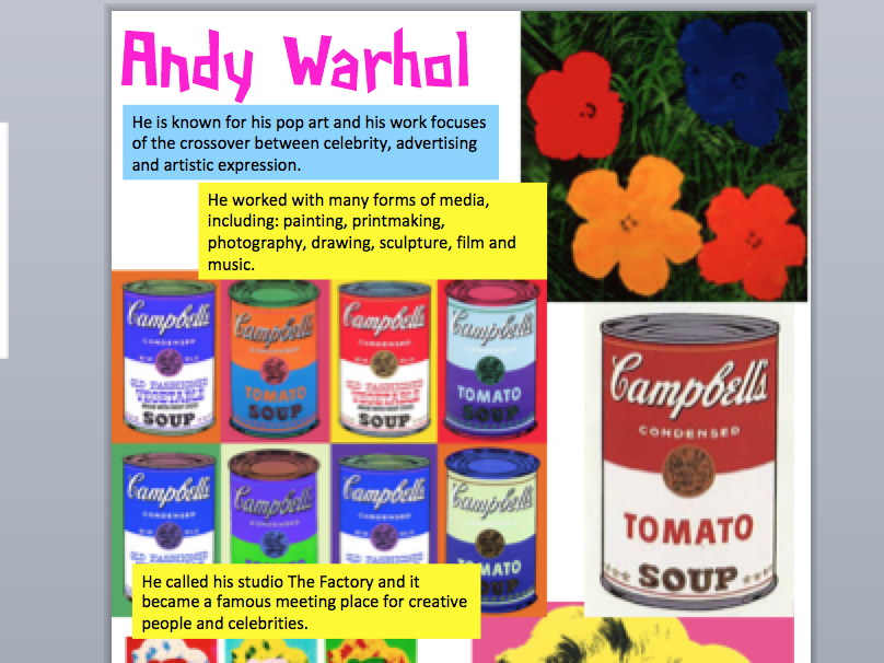 Andy Warhol Resource Fact Sheet