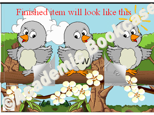 Birds word maker - Phase 3 'ow' words
