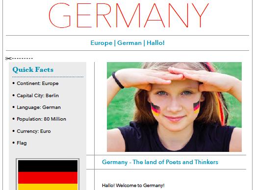 Discover Germany - Printable & Worksheet
