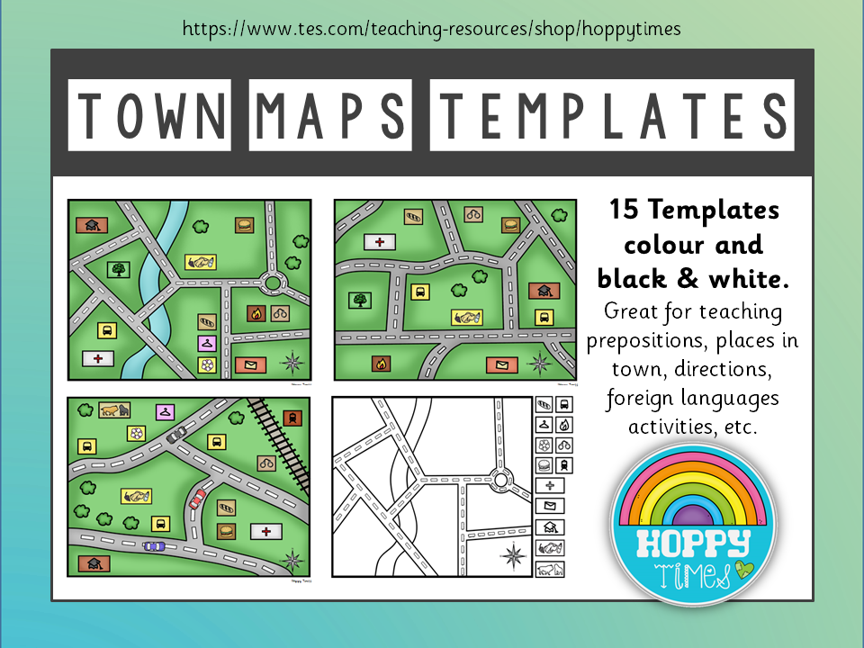TOWN MAP Templates (directions, places, French)