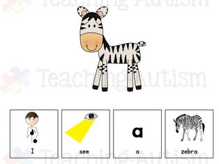 Animals Adapted Sentence Building Book