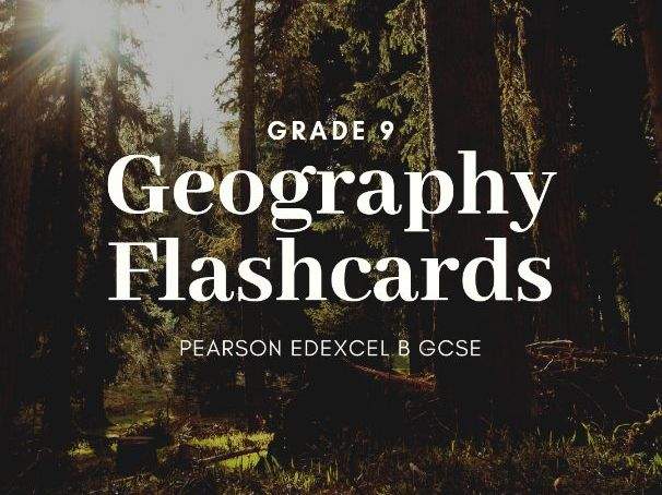 PEOPLE AND BIOSPHERE FLASHCARDS GEOG EDEXCEL B