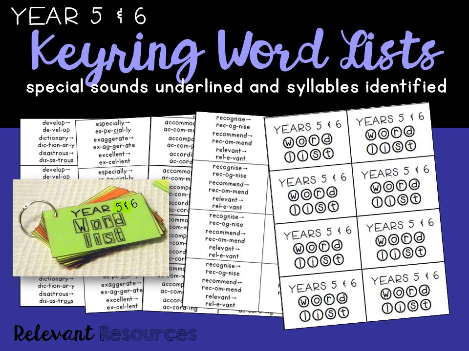 Word List for Year 5 & 6