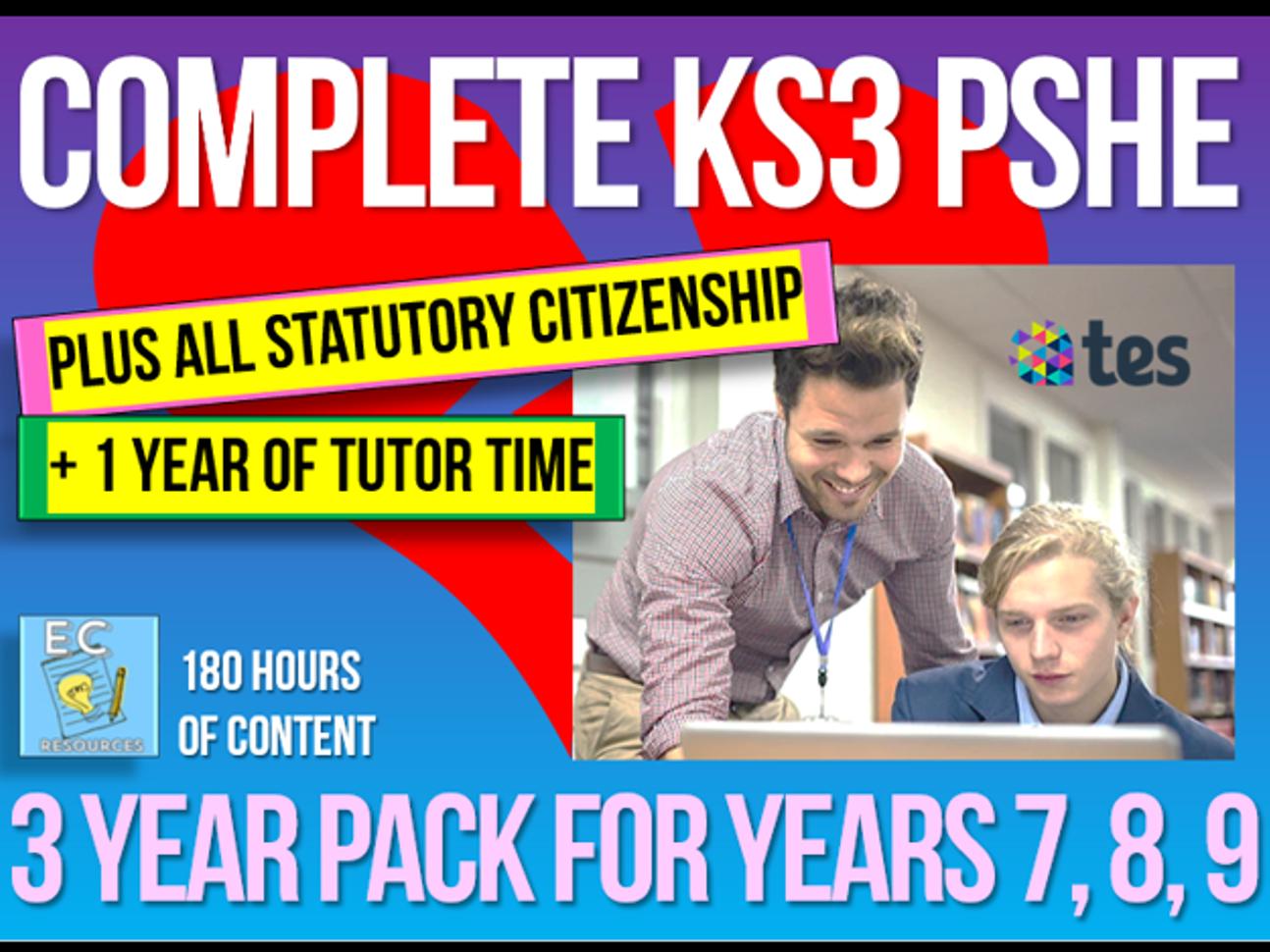 Complete KS3 PSHE + Citizenship + Tutor Time