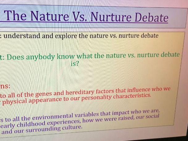 Nature Vs. Nurture Blood Brothers