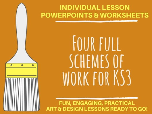 Four KS3 schemes of work with individual lesson powerpoints