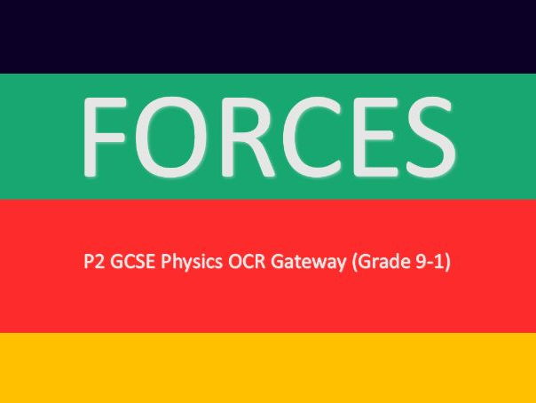 P2 Forces Powerpoint: GCSE Physics OCR (Grade 9-1)