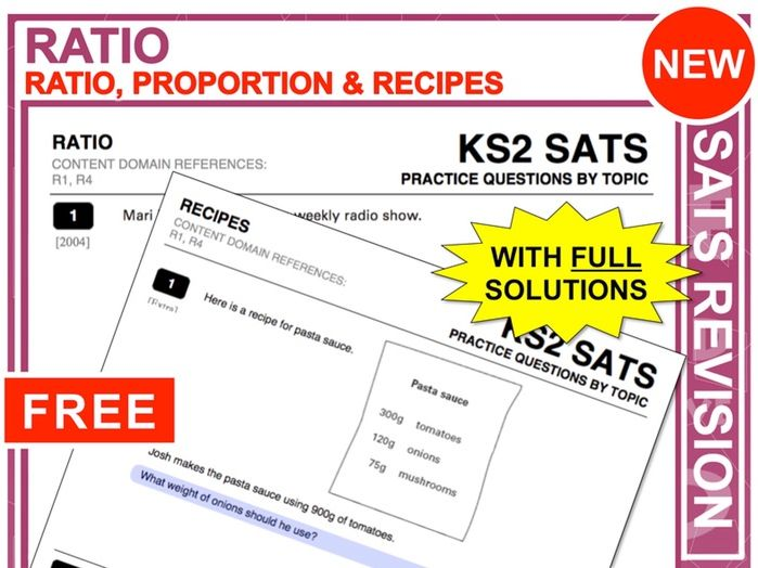 KS2 Maths (Ratio + Proportion)