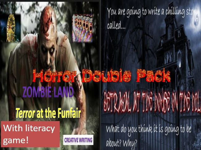 Horror Double Pack with Literacy Game