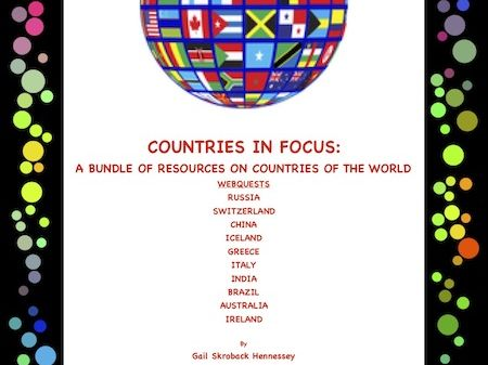 Countries in Focus: A Bundle of Webquest on Different Countries of the World