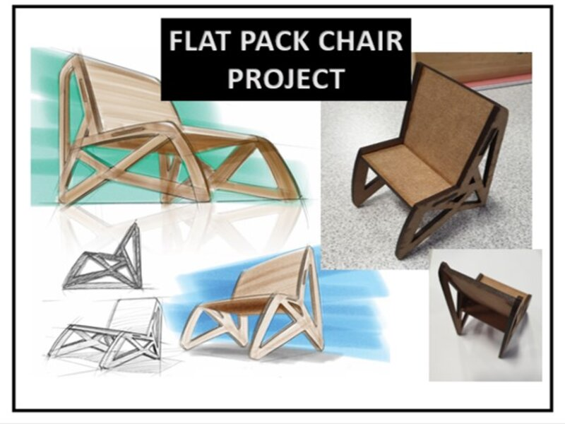 Mini flat pack chair project