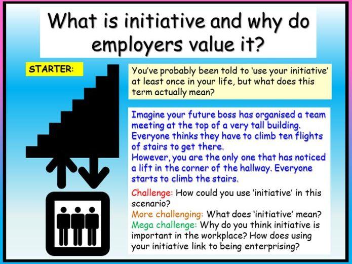 Careers - Taking Initiative