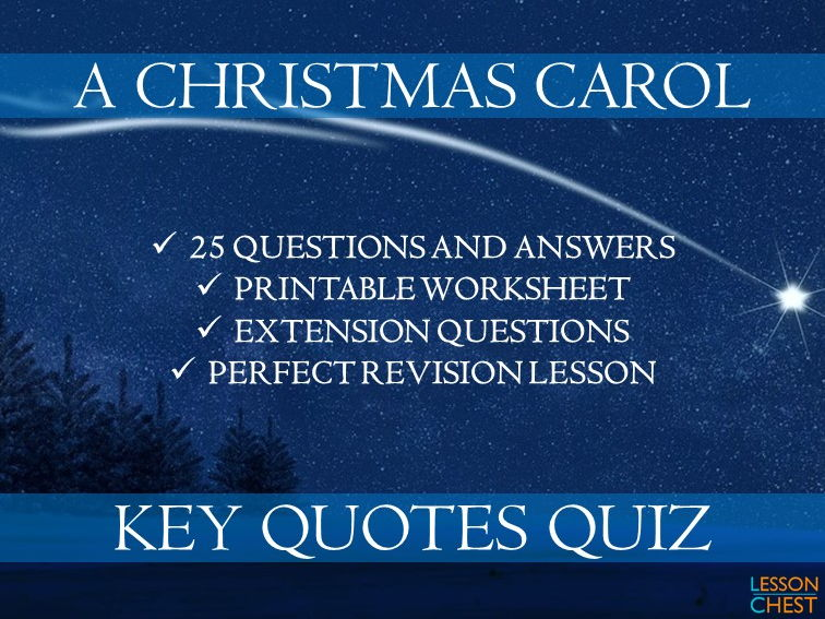 Quotes Quiz Fair A Christmas Carol Quizlessonchest  Teaching Resources  Tes