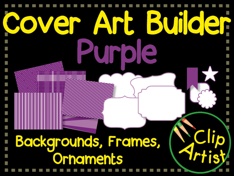 Cover Builder for Authors and Presentations - Purple