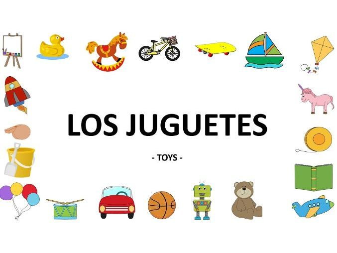 Home Learning Special: Los juguetes (Nombres) - Minilesson Video+Activities  This is a complete,