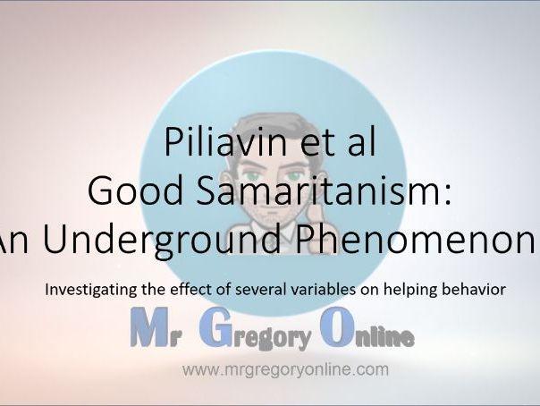 Piliavin et al (Good Samaritanism)
