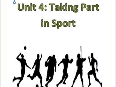 BTEC Level 1 Sport Workpack + PP -Unit 4