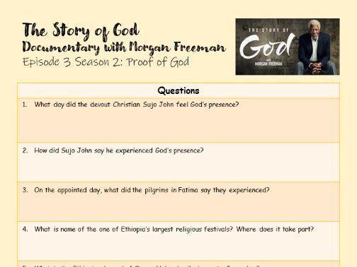 The Story of God Documentary - Proof of God - Worksheet