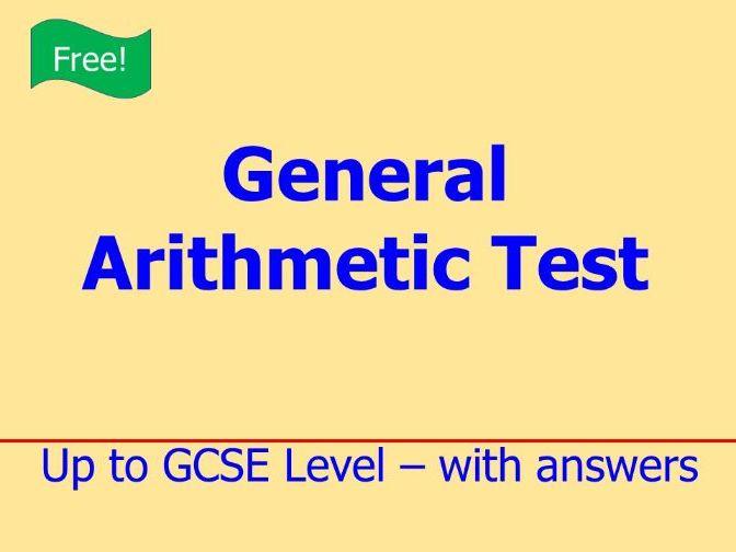 General Arithmetic Test