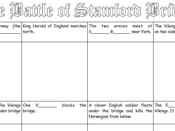 Battle of Stamford Bridge - 1066 Storyboards