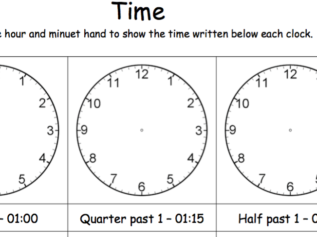 Telling Time - Resources
