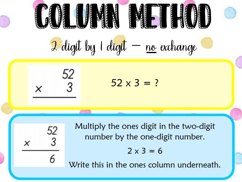 Column multiplication - NO exchange