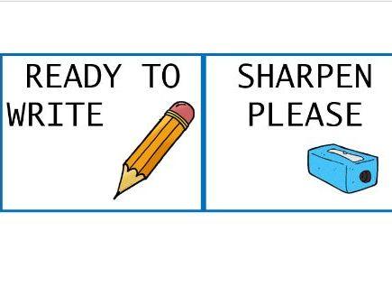 Pencil Pots whole class labels