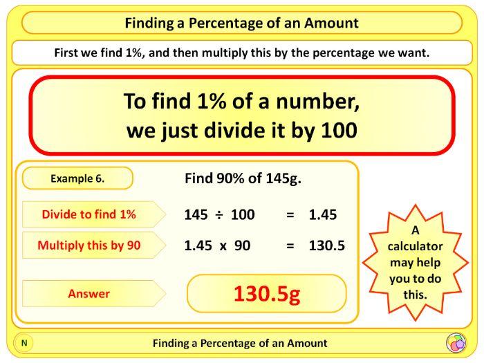Percentages 2: Percentage of an Amount KS2