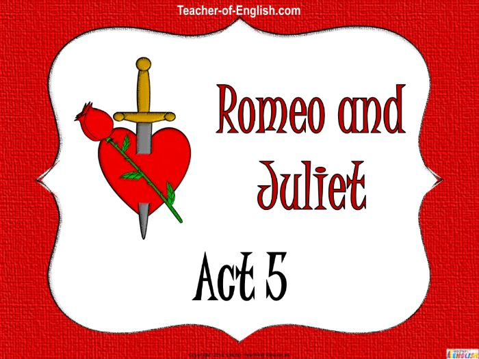 Romeo and Juliet - Act Five