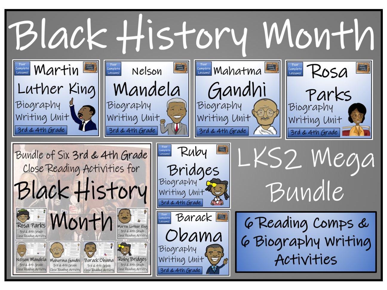 LKS2 Black History Month Reading Comprehension & Writing Bundle