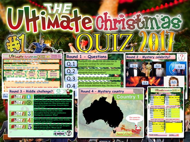 The Ultimate Christmas quiz #1 2017
