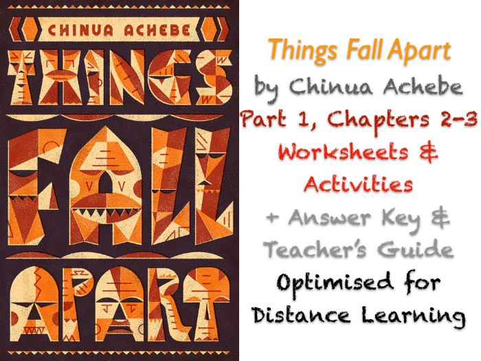 Things Fall Apart (Chinua Achebe) Ch. 2-3 - Igbo Proverbs - Activities + ANSWERS