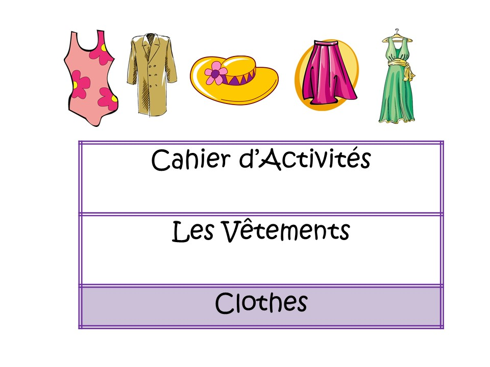 Clothes - French Booklet