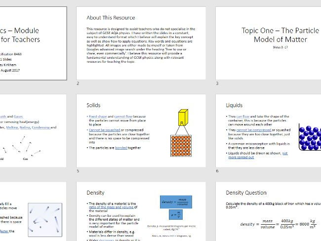 GCSE Physics Concepts - All Topics on the new AQA Physics Specification 8463, 181 Slides