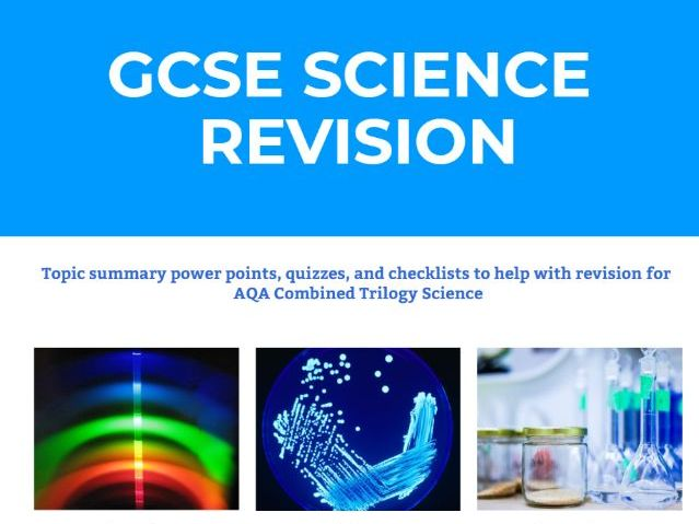 Science revision website for AQA GCSE