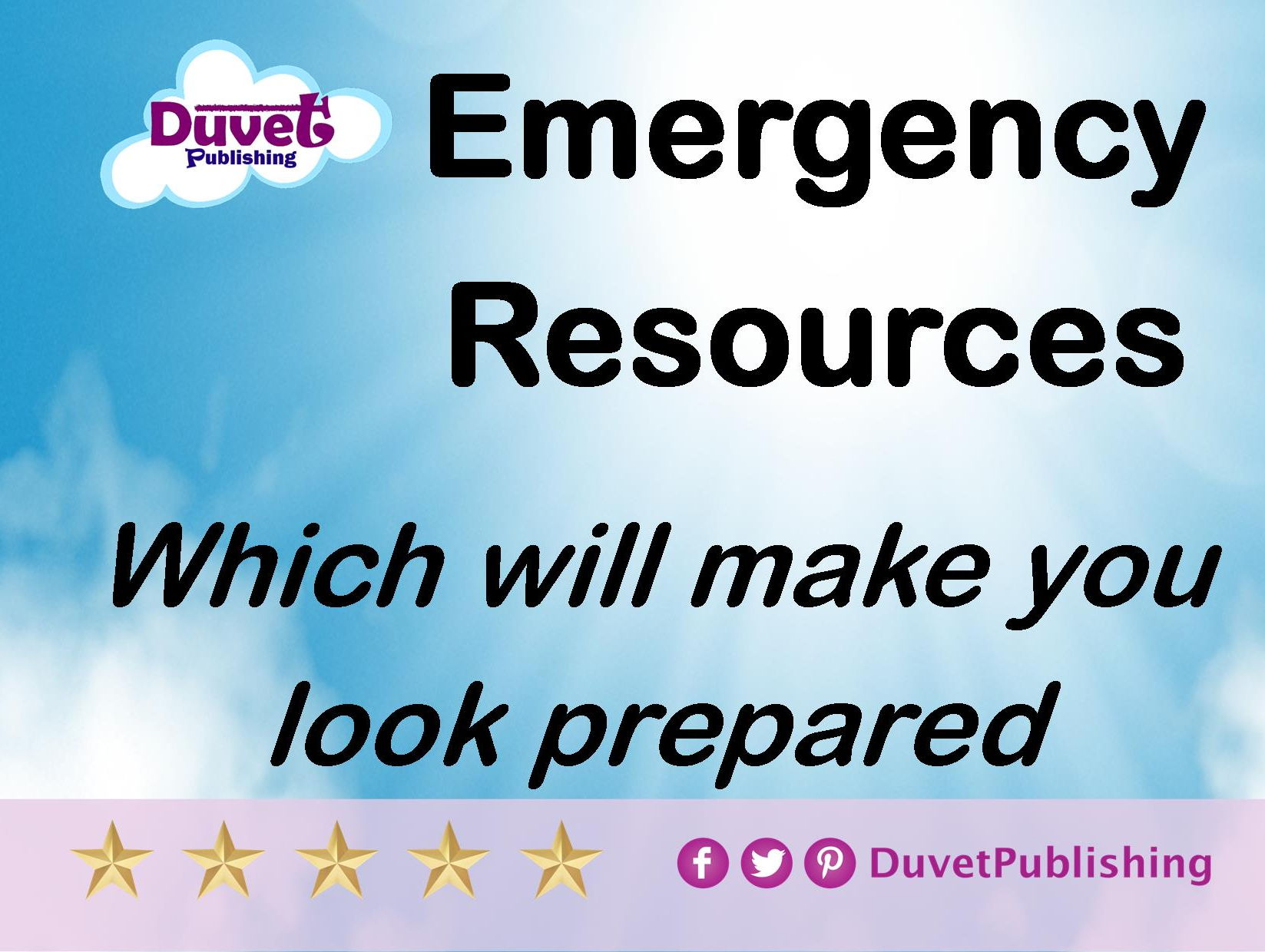 Emergency resources to pretend you're prepared