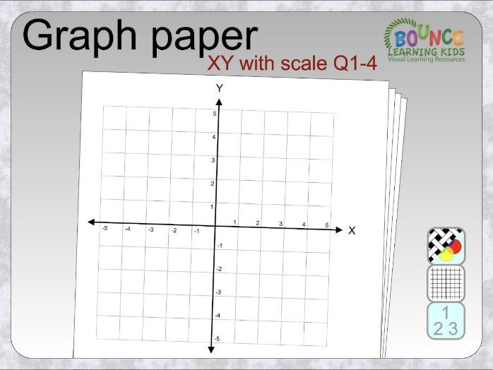 Graph paper - XY - with scale - Q14