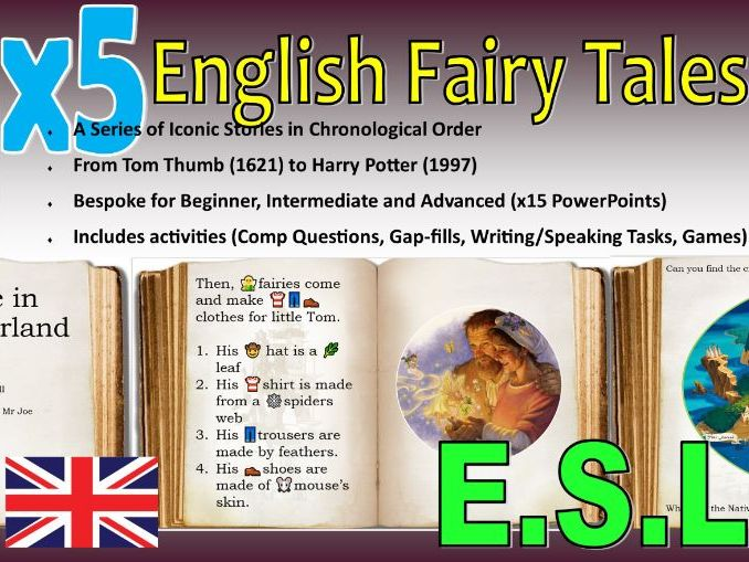 English Fairy Tales for E.S.L Learners