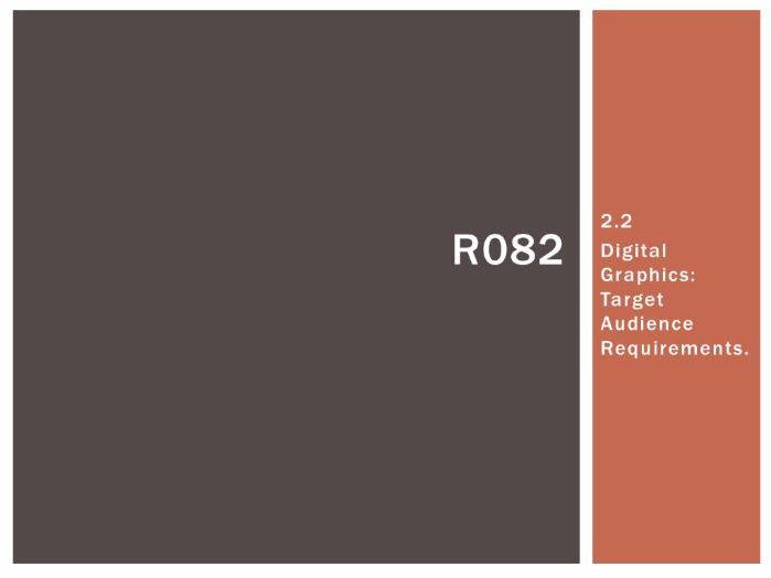 R082 - Creating Digital Graphics, Target Audience [LO2.2], CAMNATS, Creative iMedia Lvls 1/2